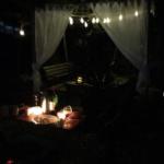 アトリエで夜BBQ