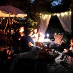 夏の夜のBBQ