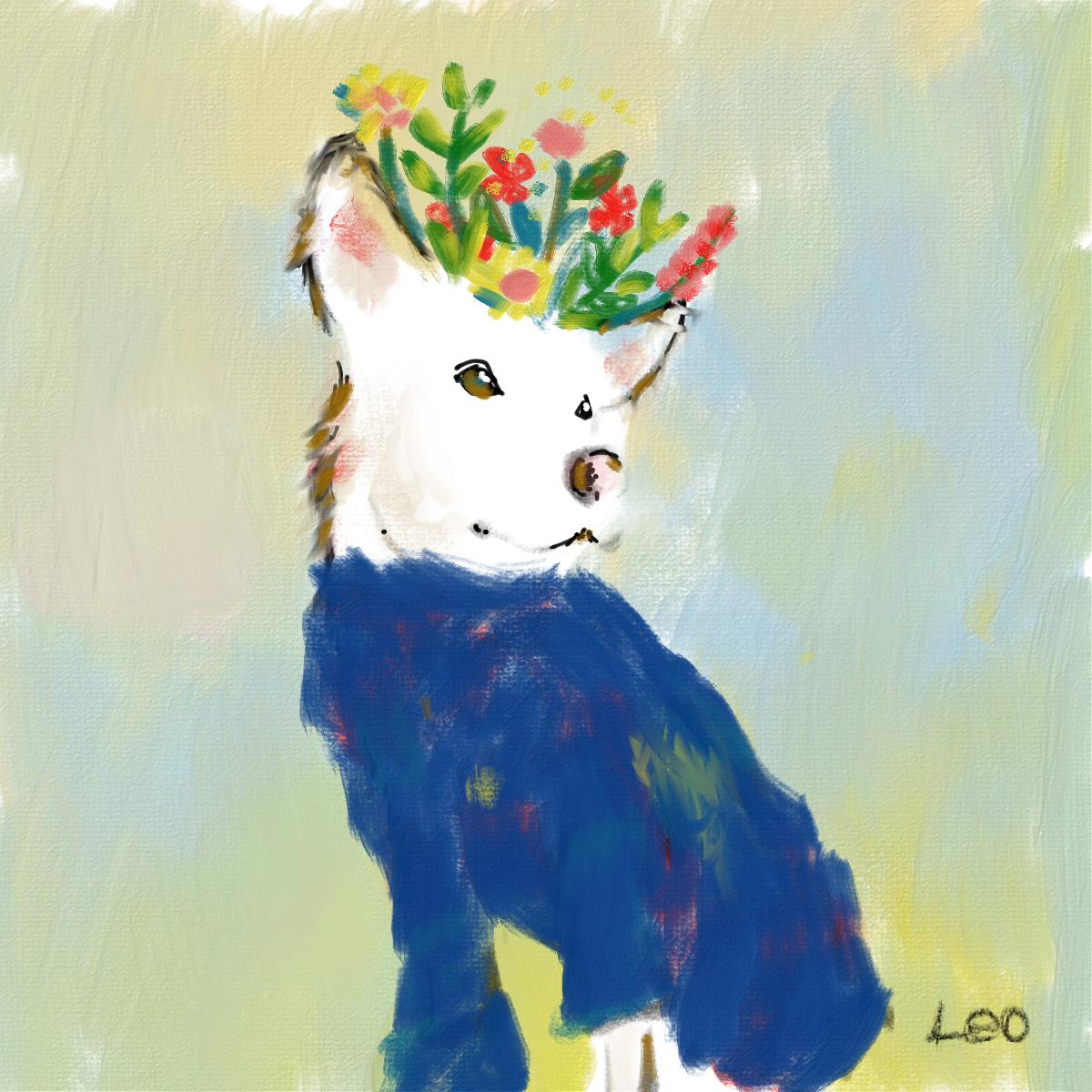 愛犬ワンコのイラスト_エコズデザイン